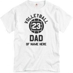 Volleyball Custom Dad Text
