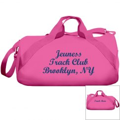 Jeuness Pink Duffel Bag (Track Mom)