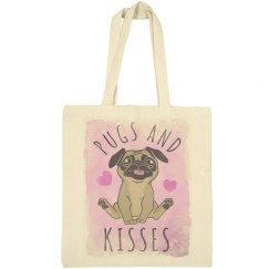 Pugs & Kisses Totes