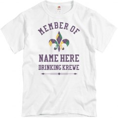 Custom Drinking Krewe Tees