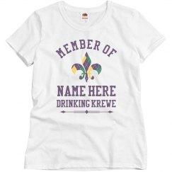 Custom Women Drinking Krewe