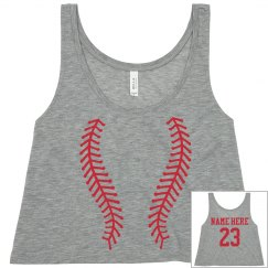 Cute Baseball Girl Crop Top You Can Customize!