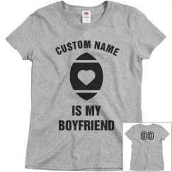 Custom Football Girlfriend Tee