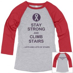 Stay Strong Climb Stairs-jr 3/4 tee