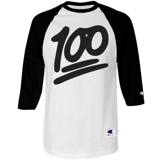 ccb6355a Keep It 100 Couple Guy Unisex 3/4 Sleeve Raglan T-Shirt