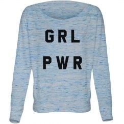 GRL PWR Trendy Feminist Graphic
