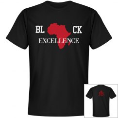 Black Excellence Tee- Blk/Red