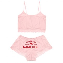 Property of Custom Valentine's Lace Lingerie Set