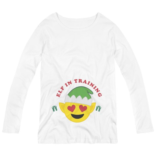 a3b243c0a97e9 I've Got An Elf In Training Maternity Long Sleeve T-Shirt