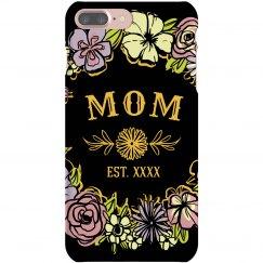 Custom Gift For Mom Flower Case
