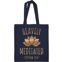 Heavily Meditated Metallic Yoga Tote