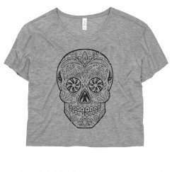 Cute Distressed Patterned Skull