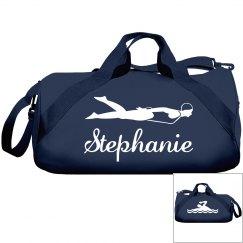 Stephanie's swimming bag