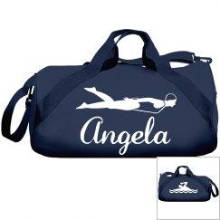 Angela's swimming bag