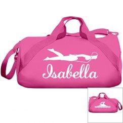Isabella's swimming bag