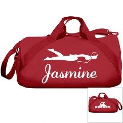 Jasmine's swimming bag