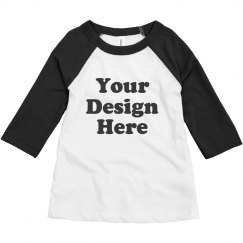 Custom Toddler Raglan T-Shirts