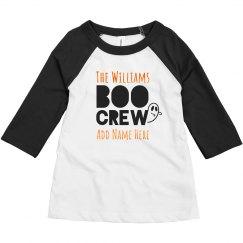 Matching Kids Boo Crew With Orange Metallic