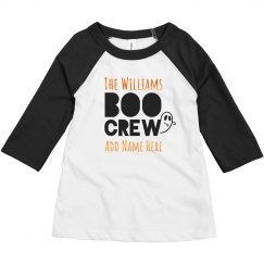 Matching Kids Boo Crew With Orange Metallic