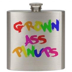 GROWN ASS PINUPS RAINBOW PAINT FLASK