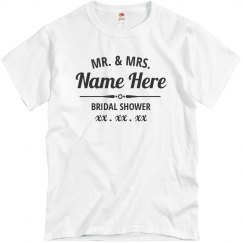 Custom Mr. & Mrs. Virtual Bridal Shower Tees