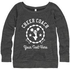 Customize Your Cheer Coach Sweatshirt