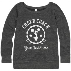 Customize Your Cheer Coach Sweatshirt