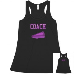 Pink Metallic Cheer Coach Custom Name