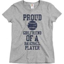 Proud baseball girlfriend