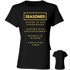 Seasoned Woman Tee Blk/Yellow