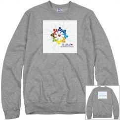 """Unisex Sweatshirt """"Love Heals"""" back"""