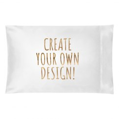 Create Your Own Metallic Pillowcase