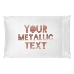 Personalized Metallic Text Custom