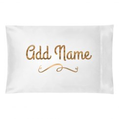 Custom Gold Metallic Name Gift