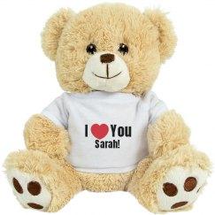 Cutom I Heart You Teddy Bears