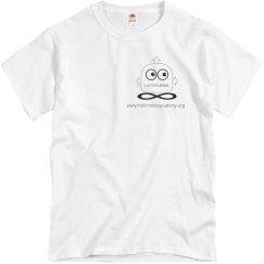 White Cotton Unisex Tshirt