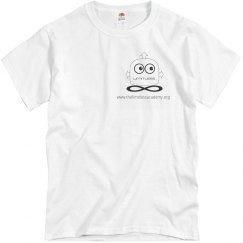 White Cotton Unisex Tshirt
