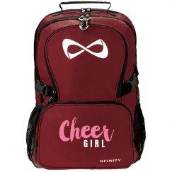 Cheer Girl Glitter Nfinity Bag