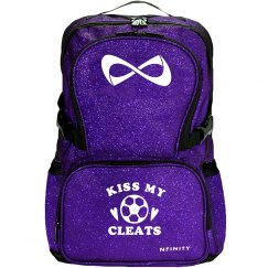Kiss My Cleats Glitter Nfinity Bag