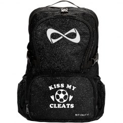 Kiss My Cleats Glitter Nfinity Bag
