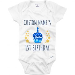 Metallic 1st Birthday Onesie