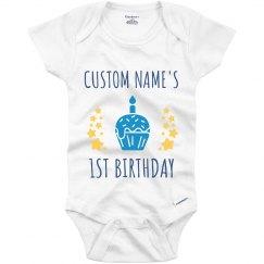 Metallic 1st Birthday Onesie