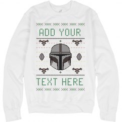 Add Your Text Space Helmet Sweater