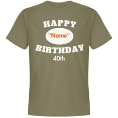 Personalized 40th bday