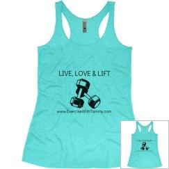 LIVE, LOVE & LIFT Blue