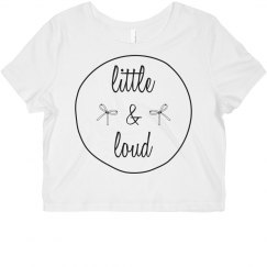 Little And Loud Cheer Crop Top