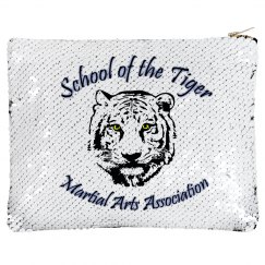 Flip Sequin Bag with Logo