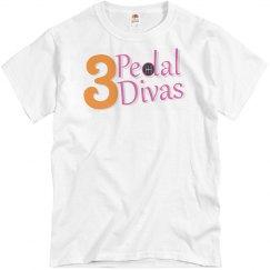 3 Pedal Divas Basic Unisex Tee