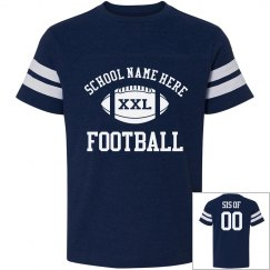 Sporty Football Sister Shirts With Custom Text