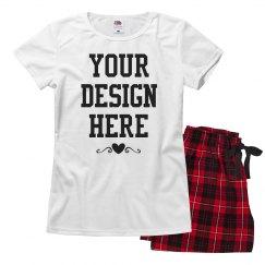Custom Cute Valentine's Pajamas Set